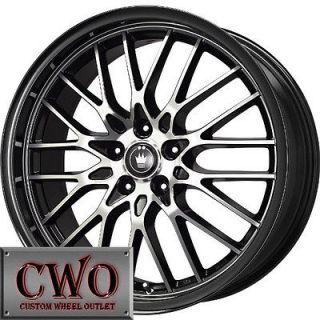 16 Black Konig Lace Wheels Rims 5x110/5x115 5 Lug Malibu Aura CTS DTS