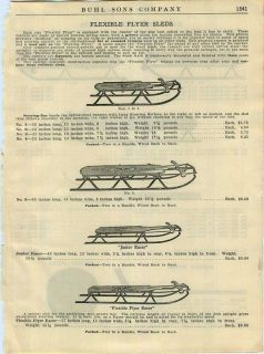 1924 Flexible Flyer Kalamazoo Snow Sleds Racer ad