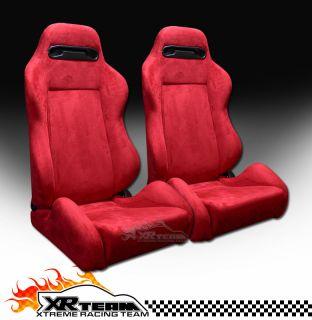 Sport Racing Bucket Seats+Sliders New Pair 40 (Fits Chevrolet Nova