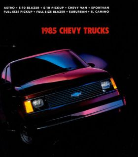 1985 CHEVROLET CHEVY TRUCK LINE SALES BROCHURE ASTRO