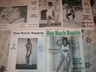 MASS MUSCLE Magazines Female Bodybuilders muscle girls posing