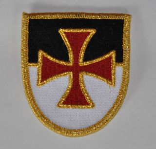 Knights Templar Cross Embroidered Patch