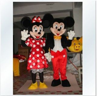 and Minnie Mouse Mascot Costume Fancy Dress Halloween Christmas gifts