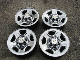 CHEVY   GMC TRUCK & VAN, 166lug CHROME WHEELS RIMS CENTERS
