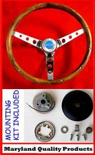NOVA CAMARO IMPALA Grant Steering Wheel Wood Walnut 15 (Fits Camaro