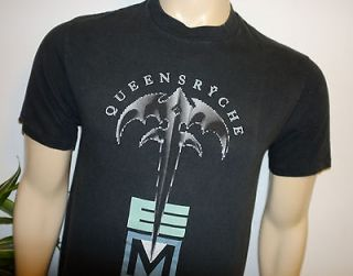 RaRe *1991 QUEENSRYCHE* black vtg rock concert tour t shirt (M) 80s