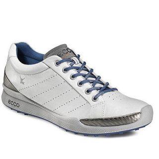 ECCO Mens Biom Hybrid Golf Shoes   White/Royal   Select Size