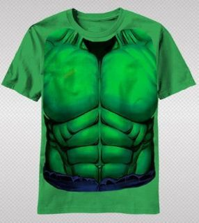 NEW Marvel Incredible Hulk Muscle Costume Body Suit Avengers Youth T