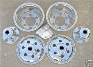 16 ISUZU NPR 6 Lug Dually Wheel Covers BOLT ON