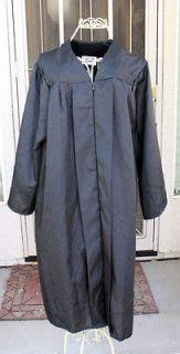 Gown BLACK MATTE 410   5 Choir Judge Robe Nun Costume X SHORT