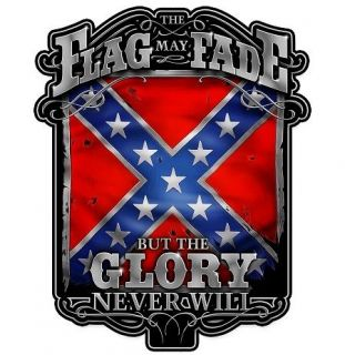 REBEL FLAG GLORY DECAL CAR TRUCK MOTORCYCLE BOAT COMPUTER RV CELL