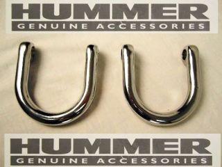 Hummer H2 OEM Chrome Rear Bumper Tow Hooks (Pair)