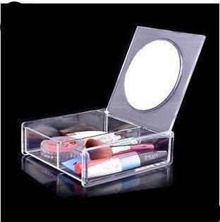 Clear Acrylic Cosmetic mirror box Storage Cosmetic Organizer Makeup