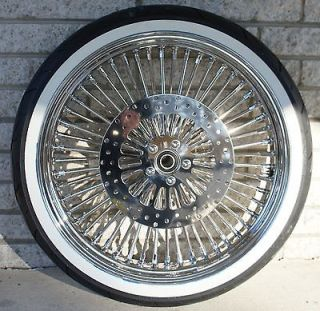 MAMMOTH 52 FAT DADDY SPOKE CHROME 21 WHEELS 4 HARLEY FLH PACKAGE SET