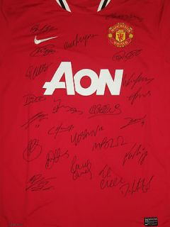 CLEARANCE Manchester United Man Utd signed shirt jersey Rooney Giggs