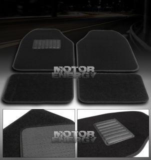 FLOOR MATS CARPETS BLACK NISSAN PONTIAC SCION TC SUBARU TOYOTA VW GTI