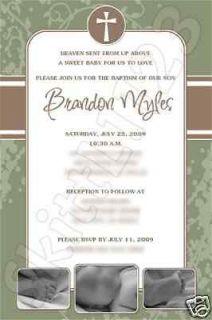 Custom Christening Baptism Personalized Invitations