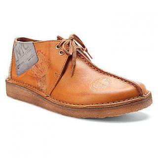 Clarks Classic Desert Travel Trek Tan Brown Leather Shoe 75551