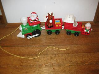Little People Musical Christmas Train Set Santa Mrs. Claus Reindeer