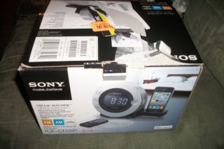 Sony CD Clock Radio with Dual Alarms and Dock Apple iPod and iPhone
