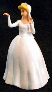 CINDERELLA WHITE WEDDING DRESS Walt Disney PVC TOY CAKE TOPPER Figure