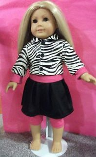 & Zebra Outfit fits AMERICAN GIRL DOLL and 18 inch dolls clothes