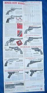 Vintage Original 1975 RUGER FIREARMS   Rifles   Revolvers   Pistols