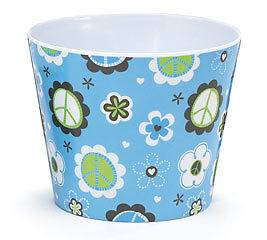 Peace Sign & Flowers #6 Melamine Pot Cover Peaceful Posies Collection