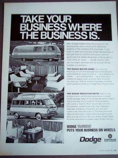 1968 Dodge Motor Home & Sportsman Wagon vintage ad
