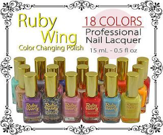 WING Solar Color Changing Nail Polish 0.5oz 18 Club Colors To Choose