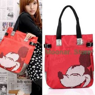 New Womens Nylon Mickey Mouse Clutch Purse Handbag Shoulder Bag Totes