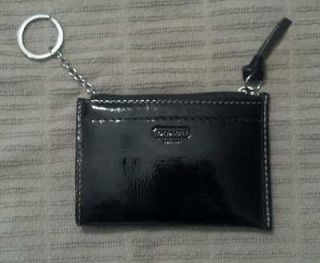 Coach Coin Purse Wallet with Card Slot Brown Patent Leather