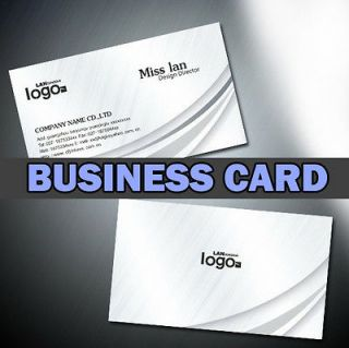 100 Business Cards Printing  full color   2 sided   Free Design