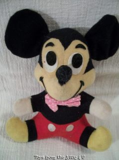VINTAGE DISNEY MICKEY MOUSE PLUSH DOLL 7 COLLECTIBLE TAIWAN VGC