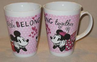 NEW Mickey & Minnie Mouse Disney Retro Pink Coffee Tea Cocoa Mug Cup