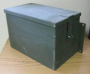 Military Green Metal Storage Box Tools Battery Vehicle Trailer Unused