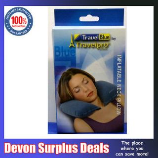 Inflatable Travel Blue Neck Pillow, Neck Support/Rest Accessory By