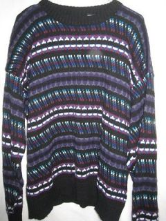 Vintage 80s Bill Cosby Retro Sweater Mens Size 2XL
