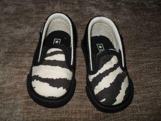 Converse Baby Boys / Infant Zebra Print Canvas Lo Pumps Trainers