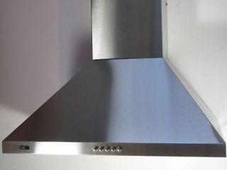 Stainless Steel Cooker Hood 90cm Extract Fan & Vent Kit