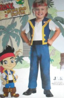 Toddler Boy Disney Jake Never Land Pirates Character Halloween Costume