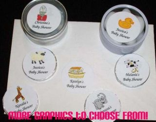 Baby Shower ~ Personalized ~Round Labels Envelope Seals Stickers