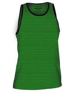 Mens Hurley Staple Marble Premium Fit Tank Top Celtic Green Large