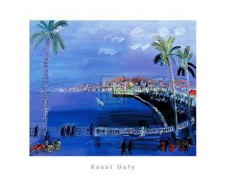 RAOUL DUFY Baie Des Anges, Nice cote dazur new PRINT