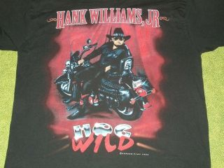 VINTAGE 1995 Hank Williams, Jr. Country Music Tour T Shirt
