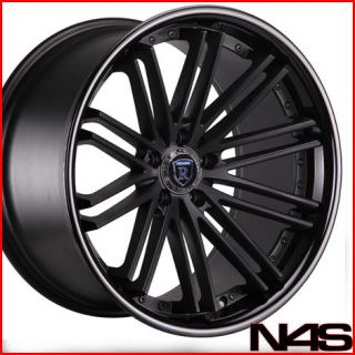 20 INFINITI G35 COUPE ROHANA RC20 BLACK DEEP CONCAVE STAGGERED WHEELS