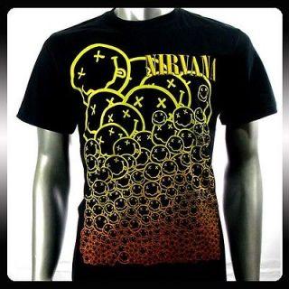 Nirvana Kurt Cobain American Rock Band Men T shirt Sz L