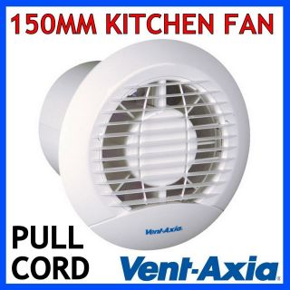 Axia Eclipse 150XP 6 Kitchen Ventilation Extractor Fan With Pull Cord