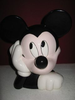 Disney Treasure Craft MICKEY MOUSE Head Cookie Jar * Rare