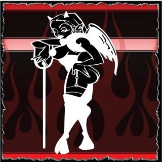 Devil Girl airbrush stencil template harley paint